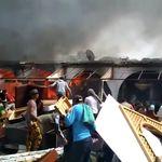 Nouvel incendie dans un marché de