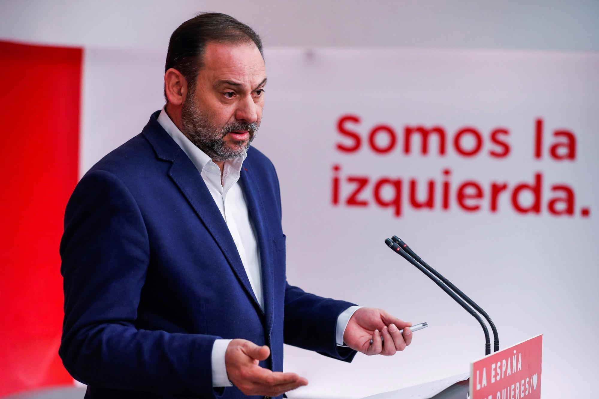Ábalos (PSOE) prefiere pactar con Ciudadanos que con los independentistas para la