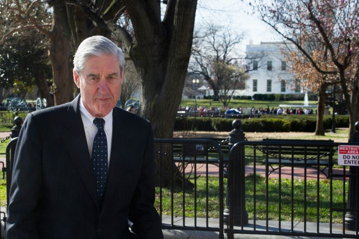 Special Counsel Robert Mueller walks past the White House, after attending St. John's Episcopal Church for morning services,