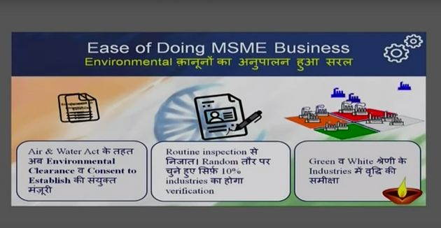 Screenshot of the presentation given by Prime Minister Narendra Modi while announcing the 12 specific...
