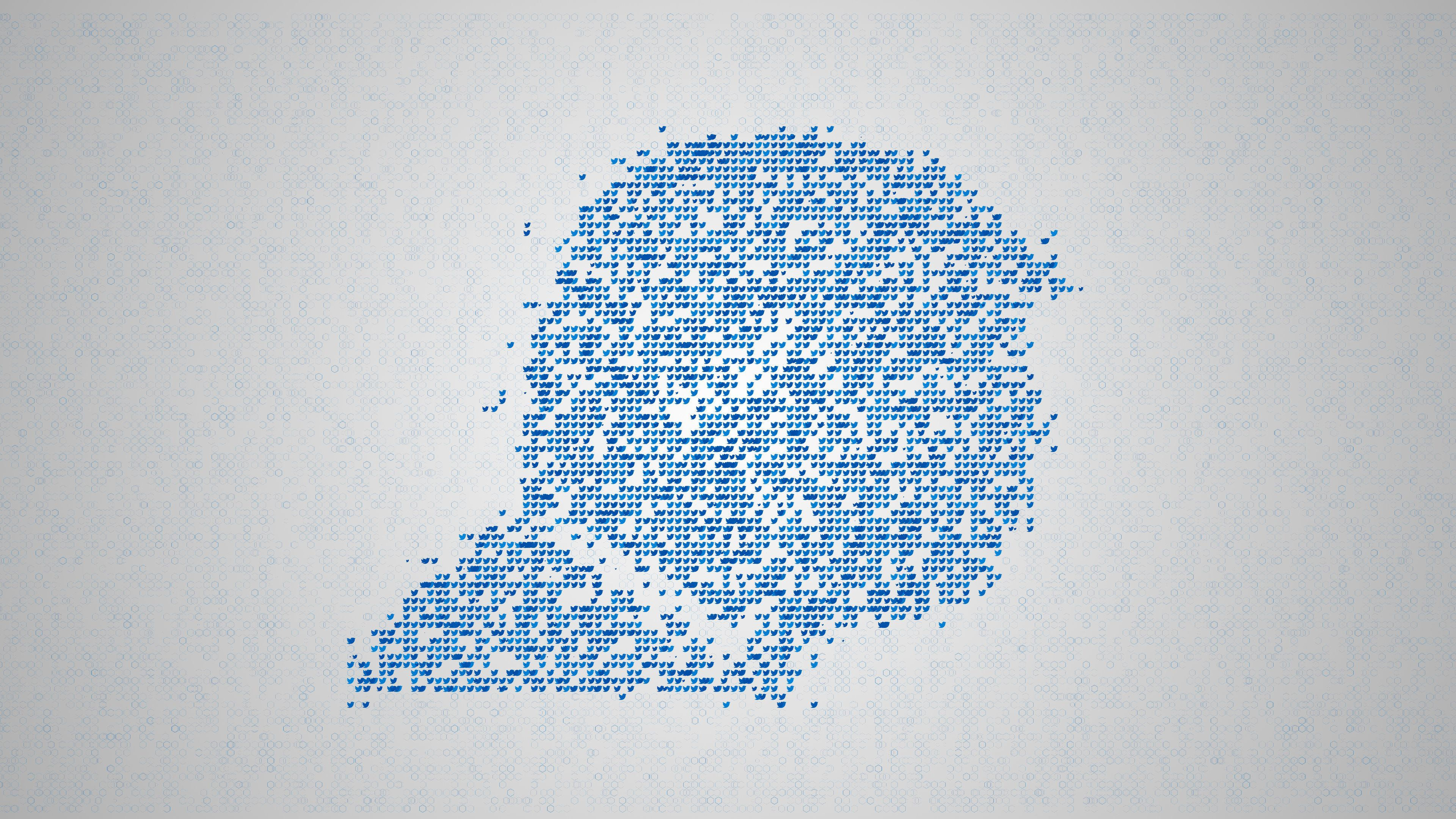 Social network concept, a lot of tweets make closeup silhouette of a human