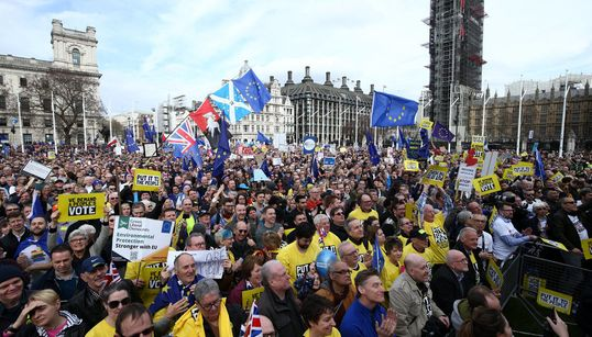 'One Million' Descend On Central London To Call For A 'People's