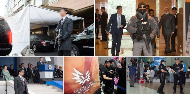 지난 22일 문재인 대통령의 대구 칠성시장 방문 당시 경호원이 부적절하게 총기를 노출했다는 지적이 나오자 청와대는