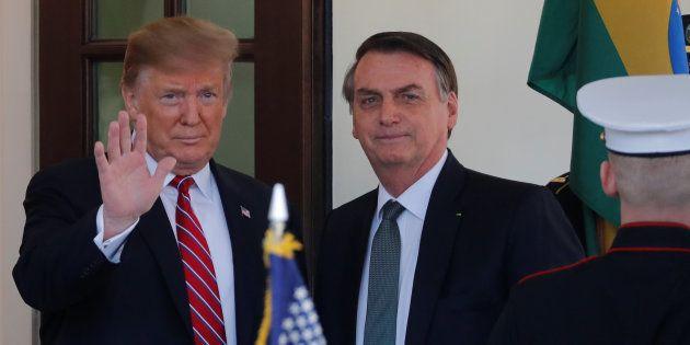 Donald Trump recevant Jair Bolsonaro à la Maison