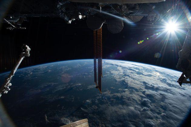 Une vue depuis la Station Spatiale Internationale (ISS). Les astronautes qui ont participé à l'étude...