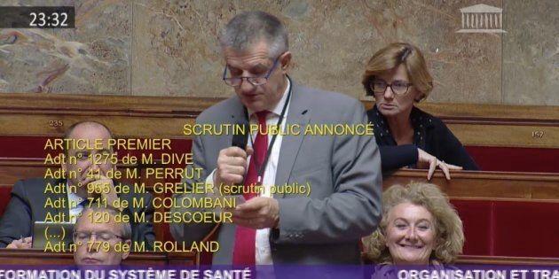 Jean Lassalle à l'Assemblée nationale lundi 18