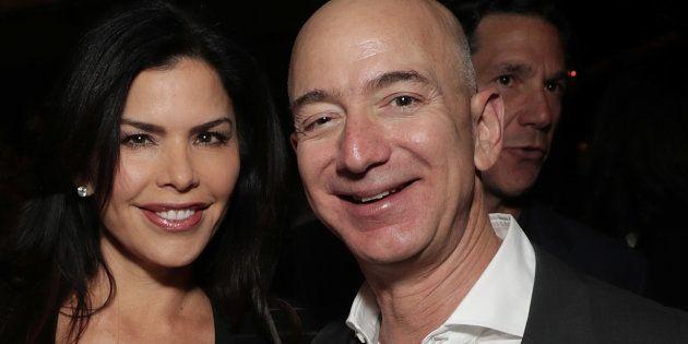 Jeff Bezos et Lauren Sanchez lors d'une avant-première en 2016 à Los