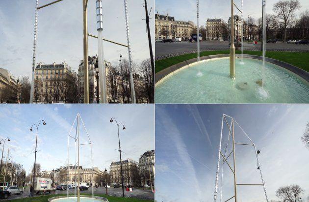 Six fontaines ont été installées sur le rond-point des