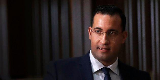 Alexandre Benalla à la sortie de son audition au Sénat le 21