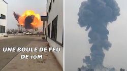 Les images de l'énorme explosion d'une usine chimique en