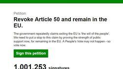Au Royaume-Uni, cette pétition anti-Brexit dépasse le million de