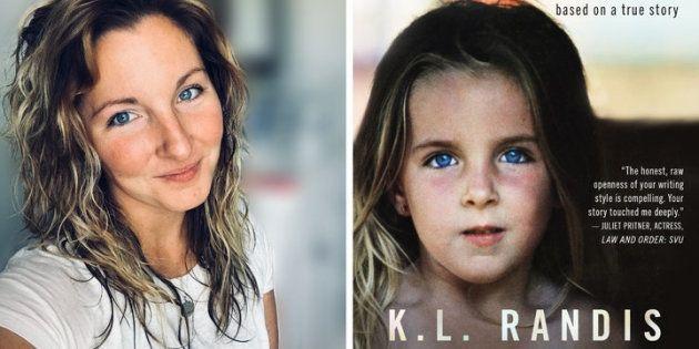 L'écrivaine K.L Randis, à l'âge adulte et lorsqu'elle était enfant. Elle est l'autrice du roman Spilled Milk, inspiré des agressions sexuelles qu'elle a subies petite.