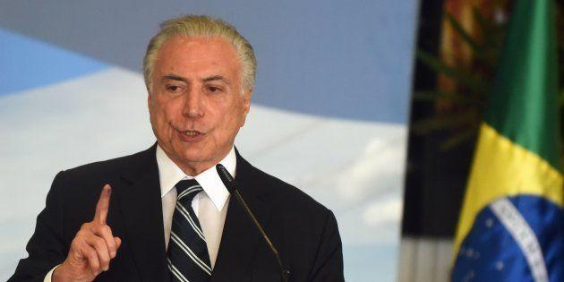 Michel Temer lorsqu'il était encore président du Brésil, fin décembre