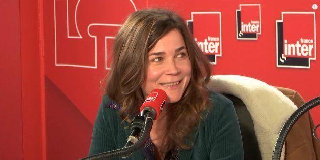 Blanche Gardin au micro de la matinale de France Inter, ce vendredi 22