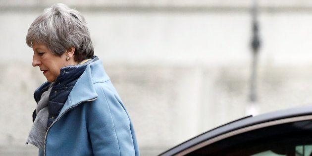 TheresaMayà Londres ce vendredi 22 mai au lendemain d'un sommet européen sur le report du