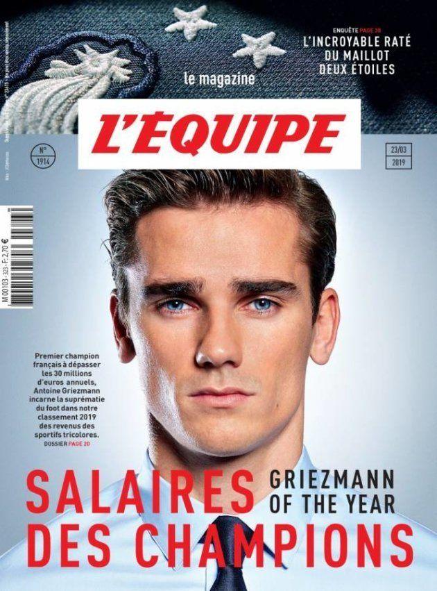 La une du magazine L'Équipe, en kiosque samedi 23 mars