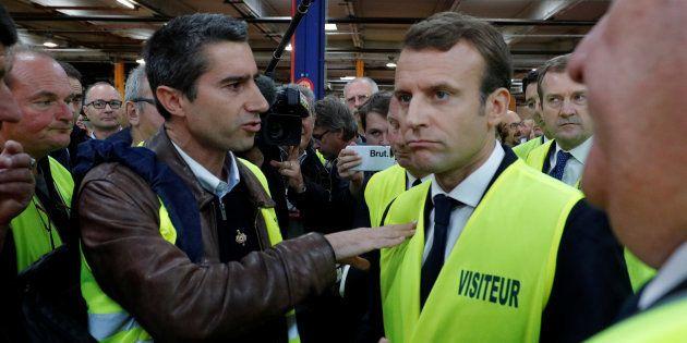 François Ruffin et Emmanuel Macron, ici le 3 octobre 2017 à Amiens, ne se retrouveront pas à l'Élysée...