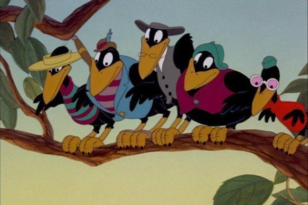 Les fameux corbeaux du film d'animation
