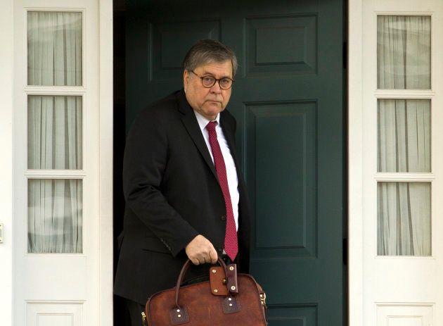 Bill Barr quitte son domicile de McLean, en Virginie, ce vendredi 22