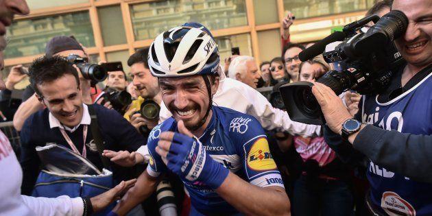 Julian Alaphilippe après sa victoire sur Milan-San Remo le 23 mars