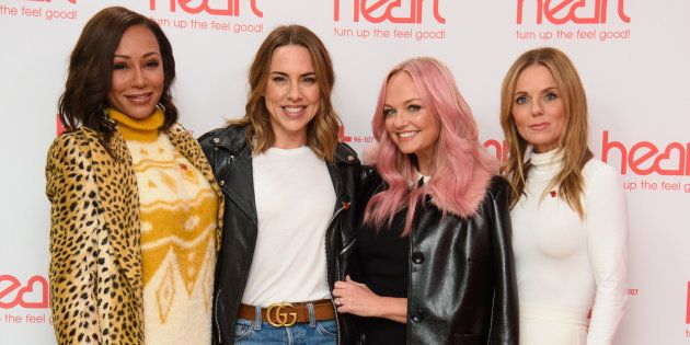Les Spice Girls (sans Victoria Beckham) Mélanie Brown, Mélanie Chisholm, Emma Bunton et Geri Halliwell...