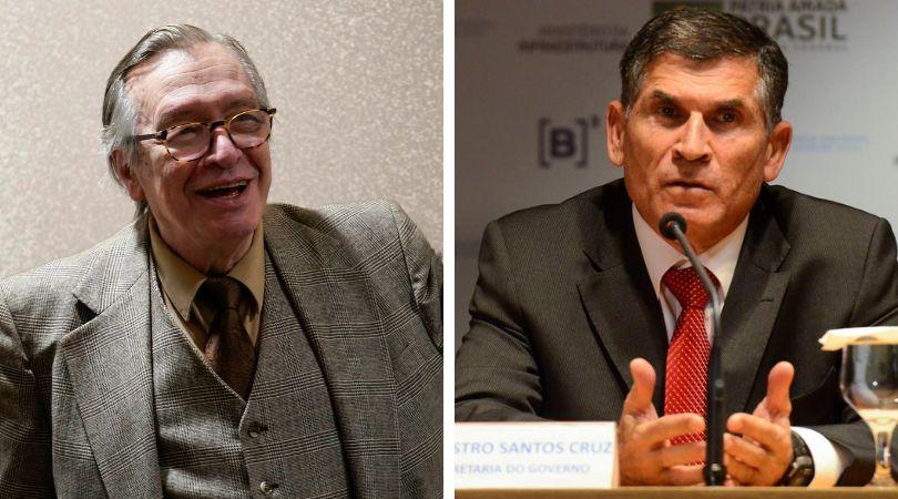 General Santos Cruz critica linguajar chulo e palavrões inconsequentes de Olavo de