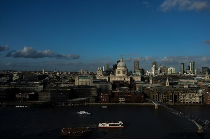 """The view of London's skyline from the Tate Modern, one of the four Tate galleries. """"We do not think it right to seek or"""