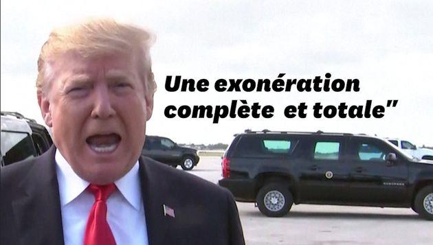 Donald Trump se félicite d'être