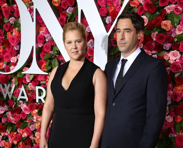 Amy Schumer and Chris Fischer attend the 72nd Annual Tony Awards on June 10, 2018, in New York City.