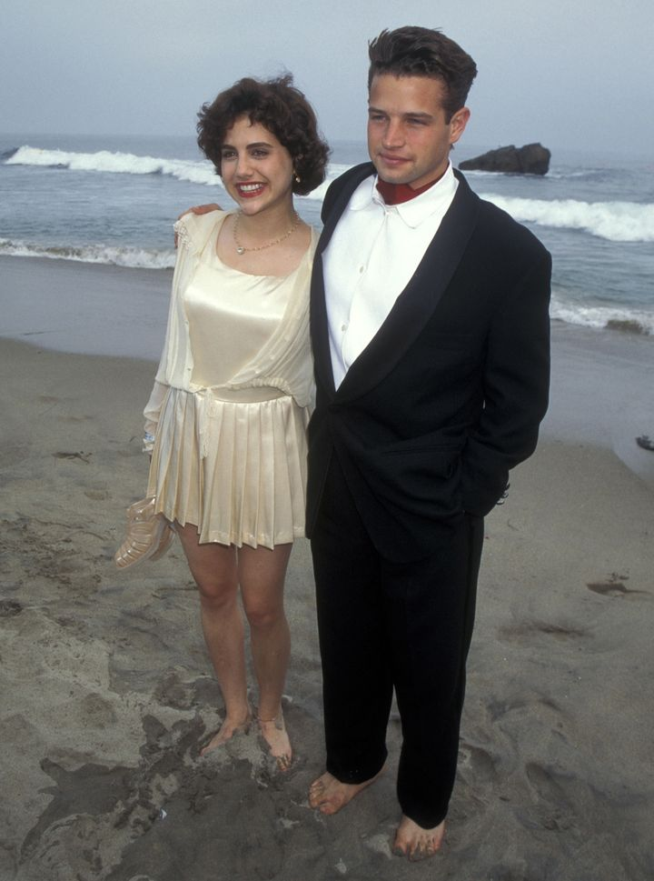 Brittany Murphy and Justin Walker at the premiere of