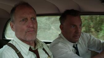 """Woody Harrelson and Kevin Costner in """"The Highwaymen"""" on Netflix.Photo Courtesy of Netflix"""