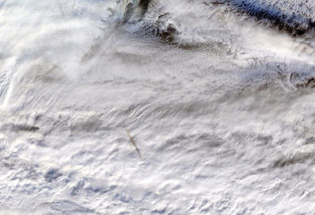The Terra satellite's Moderate Resolution Imaging SpectroRadiometer (MODIS) instrument snapped this true-color...