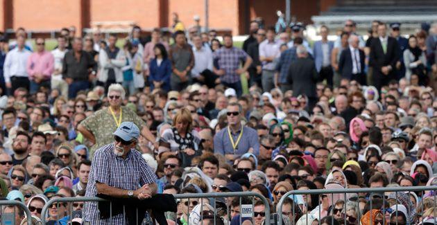Les Néo-zélandais sont venus en nombre assister à la grande prière du vendredi...