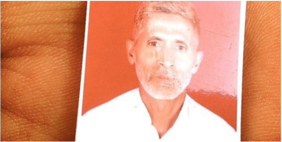 A passport size photo of Mohammad Akhlaq who was beaten to death by cow vigilantes on 28th September,