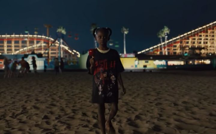 "Young Adelaide wears a shirt of Michael Jackson's ""Thriller"" in Jordan Peele's ""Us."""
