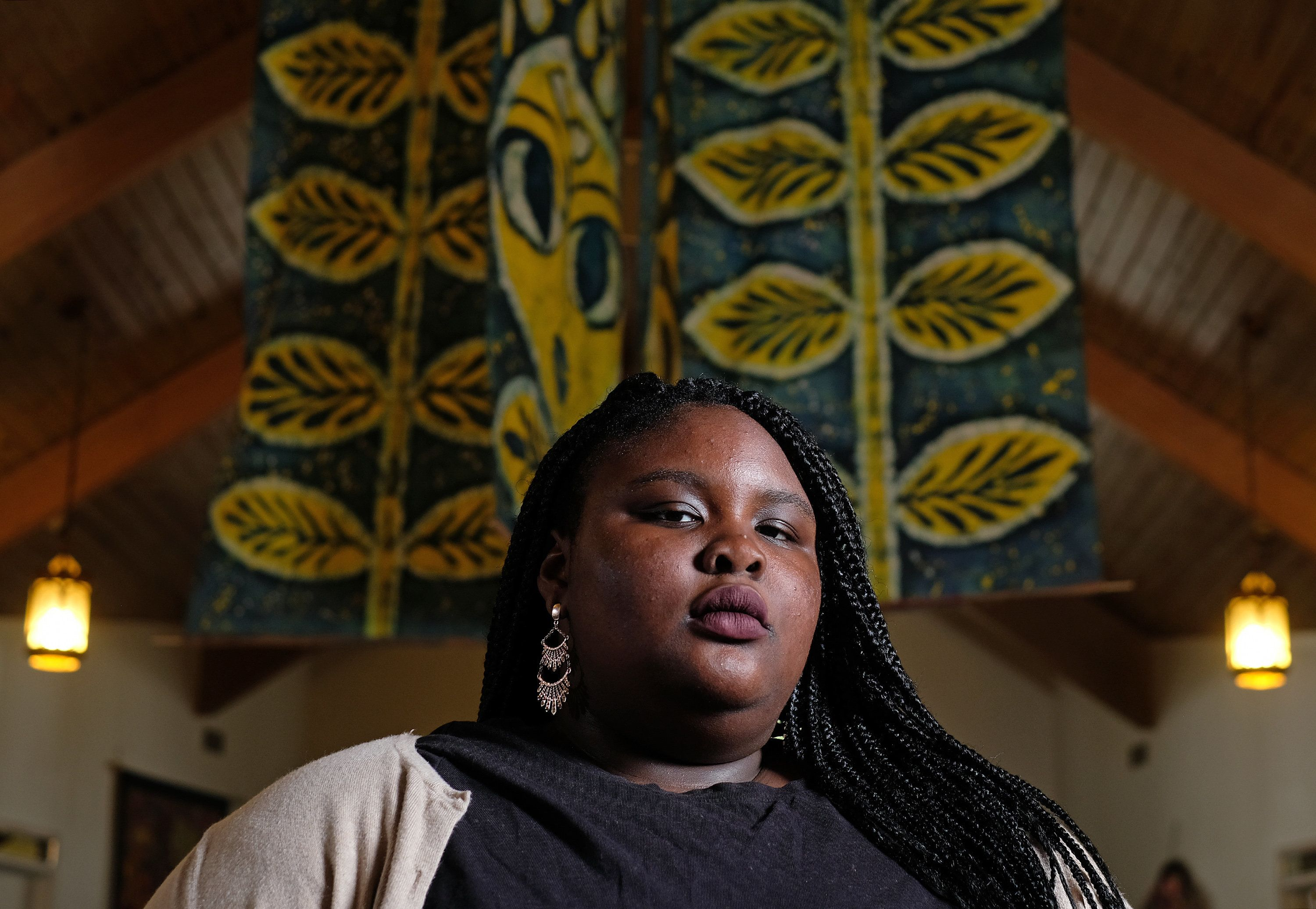 Charlottesville, VA -  Aug. 3: Zyahna Bryant wrote a petition in March of 2016 asking the City of Charlottesville to take down a statue of Robert E. Lee from a city park during her freshman year at Charlottesville High School. She was photographed in the sancturary of Sojourners United Church of Christ, Friday August 3, 2018 (Photo by Norm Shafer/ For The Washington Post via Getty Images).