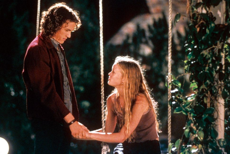 "Ledger and Julia Stiles in ""10 Things I Hate About You."""