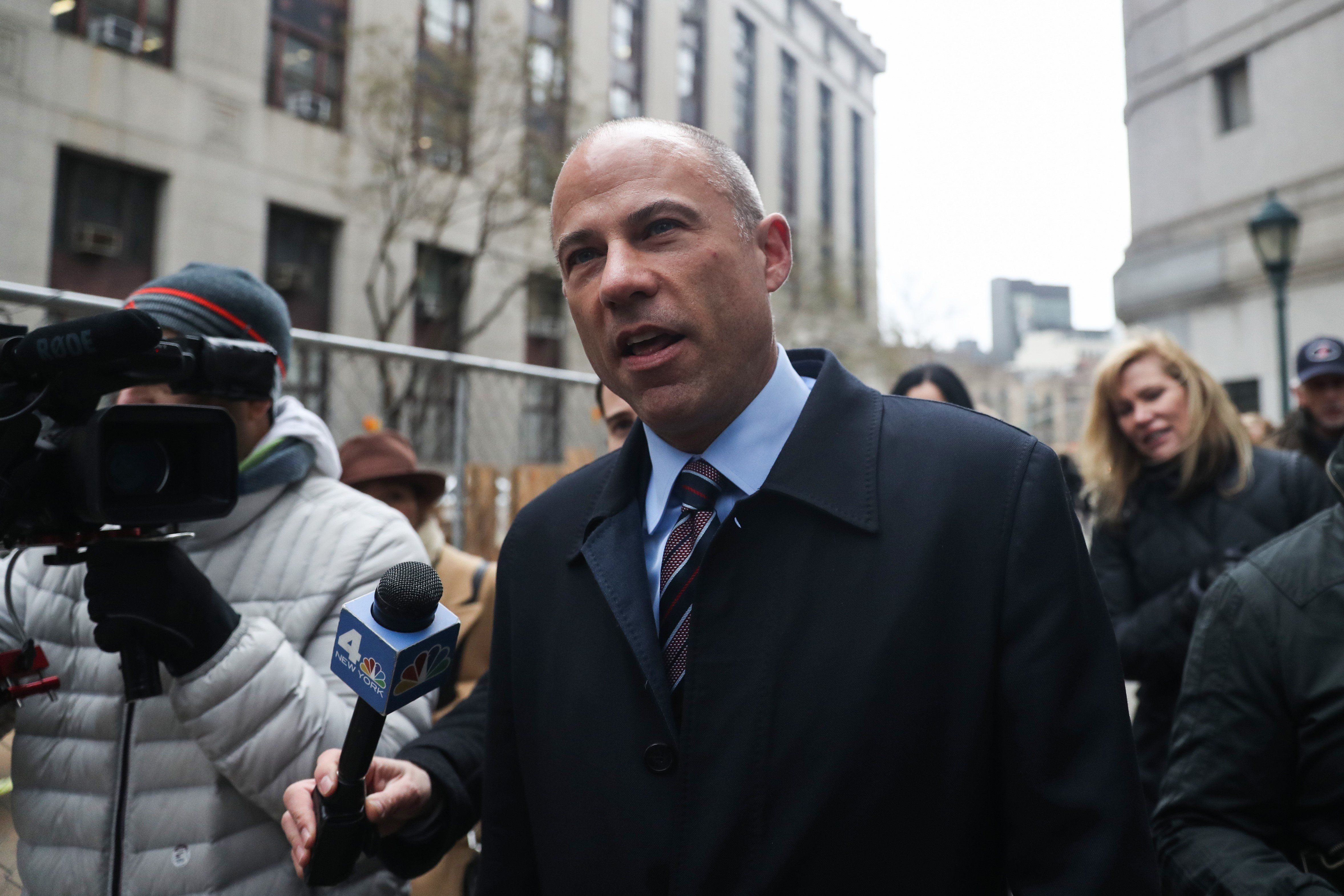 NEW YORK, USA - DECEMBER 12 : Michael Avenatti, attorney for Stephanie Clifford walks outside federal court after Michael Cohen's sentencing hearing in New York, United States on December 12, 2018. (Photo by Atilgan Ozdil/Anadolu Agency/Getty Images)