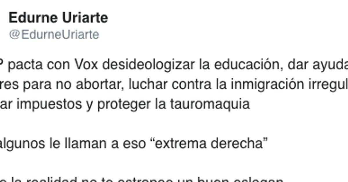 53 tuits para saber cómo piensa Edurne Uriarte