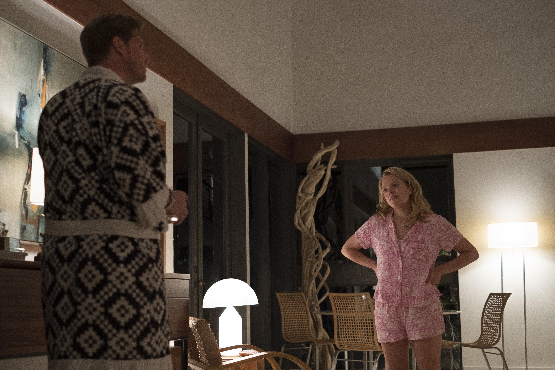 "Tim Heidecker and Elisabeth Moss in ""Us."""