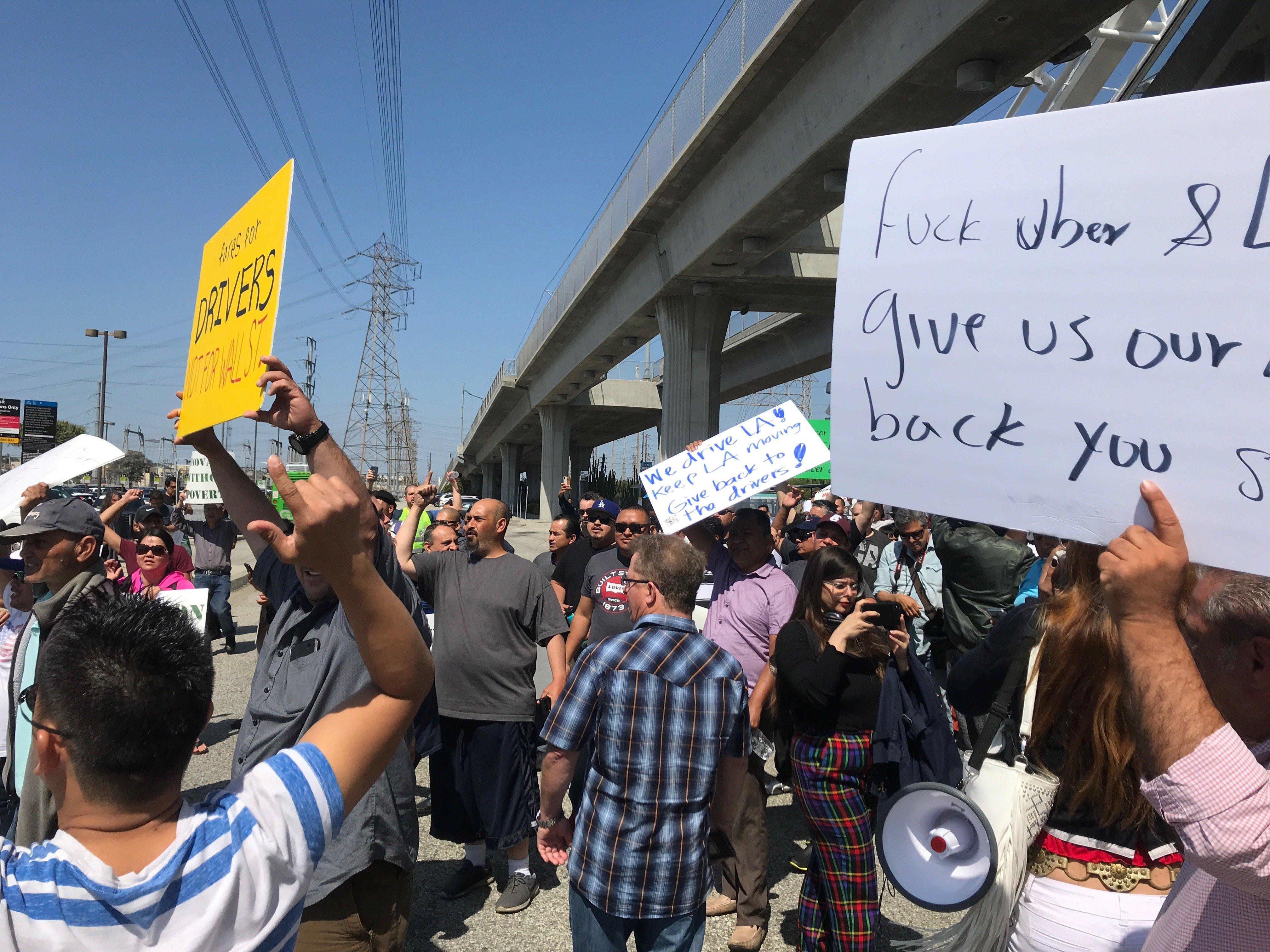 Drivers on strike