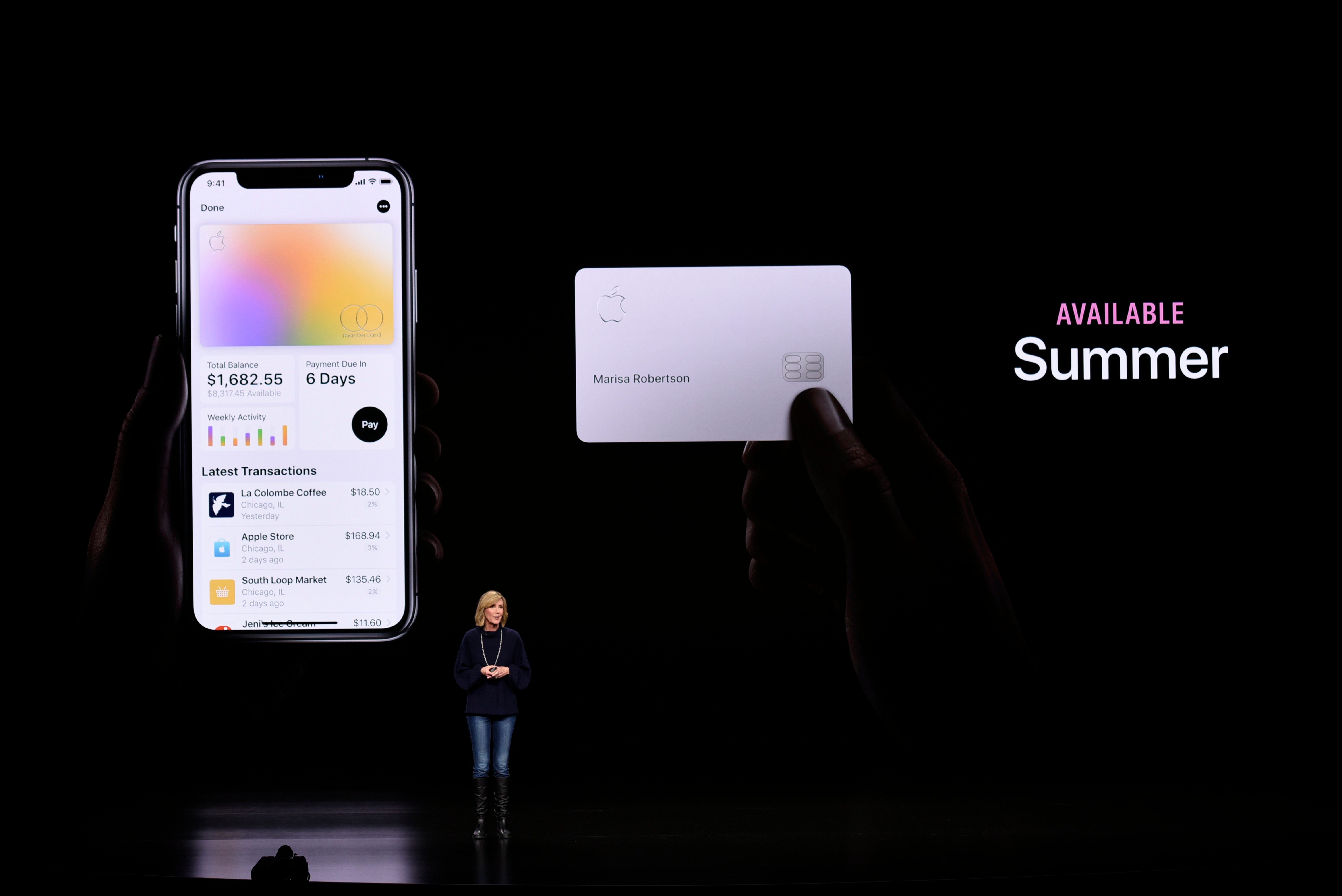 In its presentation, the company's vice president of Apple Pay, Jennifer Bailey, trumpeted low interest rates, fewer fees, and a new statement view that encourages people to choose payment options that limit interest.