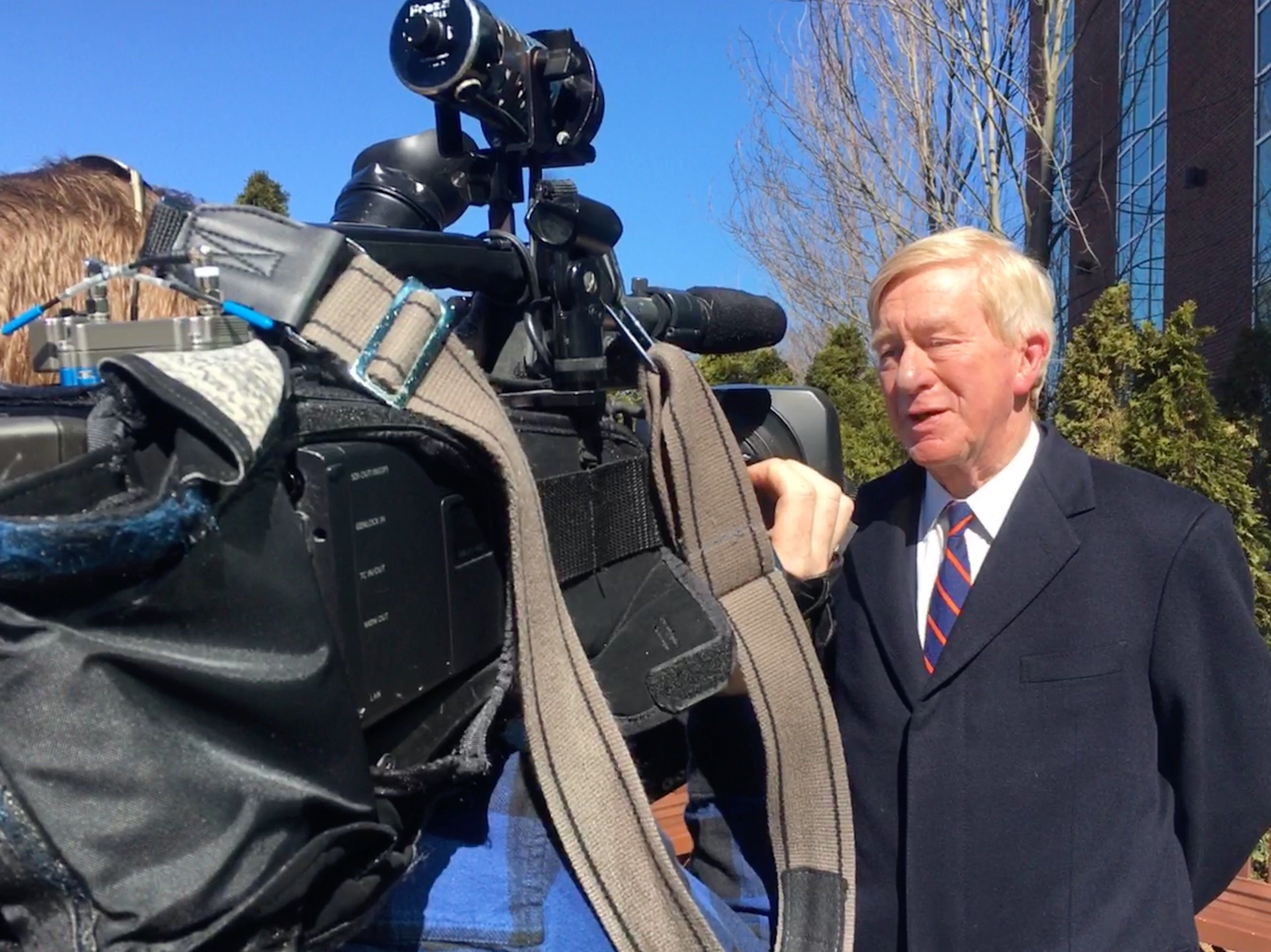 Weld is interviewed after NHPR appearance