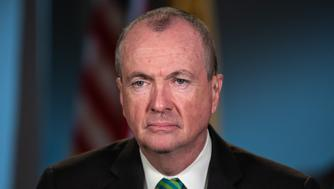 Phil Murphy, Governor of New Jersey, listens during a Bloomberg Television interview in Newark, New Jersey, U.S., on Friday, March 8, 2019. Murphy discussed the state's proposed fiscal budget, his meeting with bond rating agencies, and recent talks with Amazon.com Inc. Photographer: Ron Antonelli/Bloomberg via Getty Images