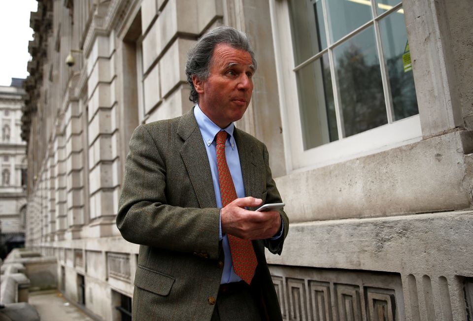 Sir Oliver Letwin arriving for a meeting at No.10 Downing