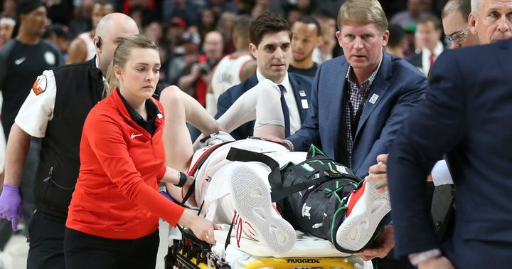 GRAPHIC VIDEO: NBA Star Jusuf Nurkic Suffers Horrific Injury On Live TV