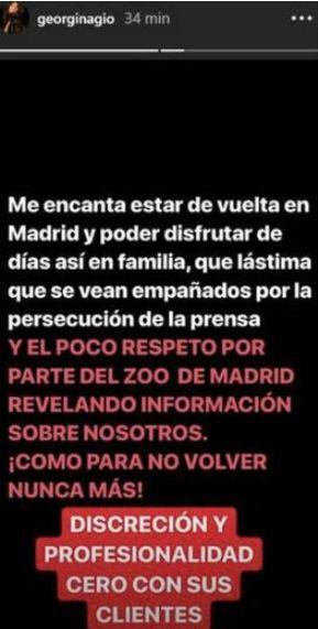 El Zoo de Madrid responde al ataque de Georgina Rodríguez tras la