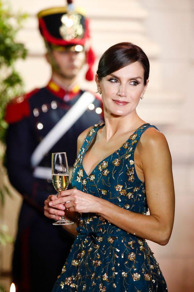 El aplaudido 'look' de Letizia en su cena con Mauricio