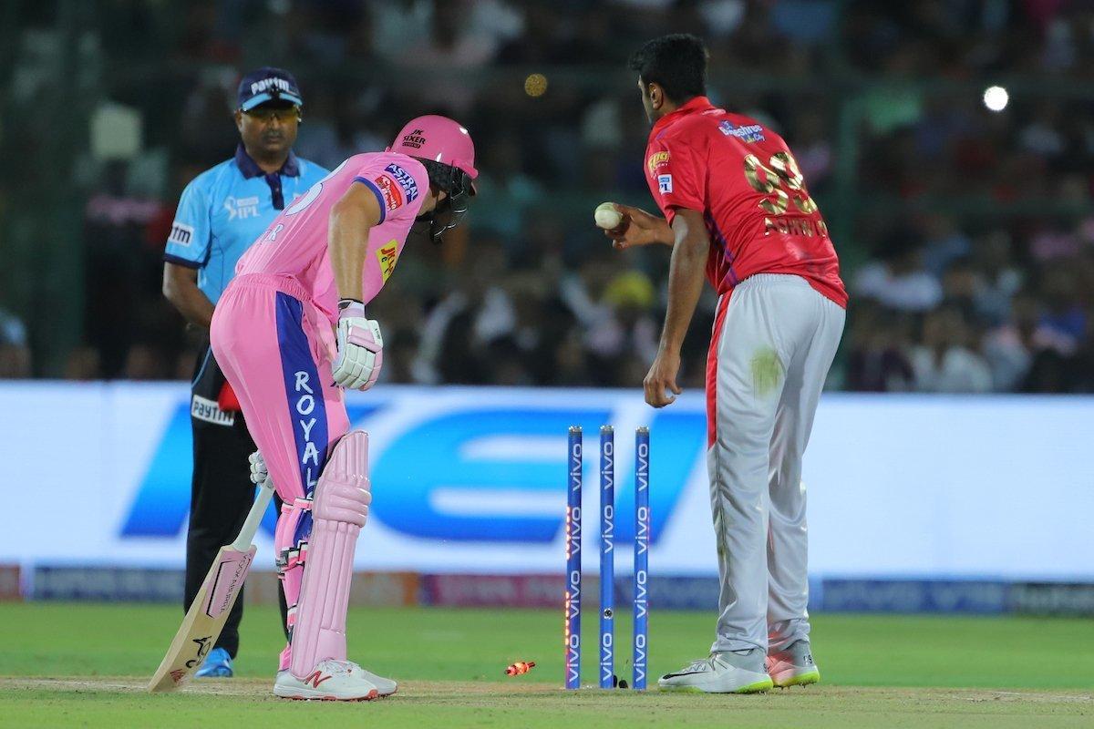 Jos Buttler `mankaded` by R Ashwin, Twitter slams Punjab captain