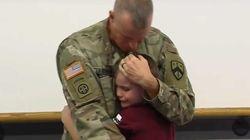 El emocionante reencuentro de un soldado con su